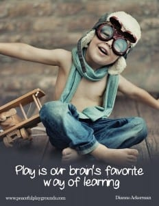 Play is the brain's favorite way to learn.