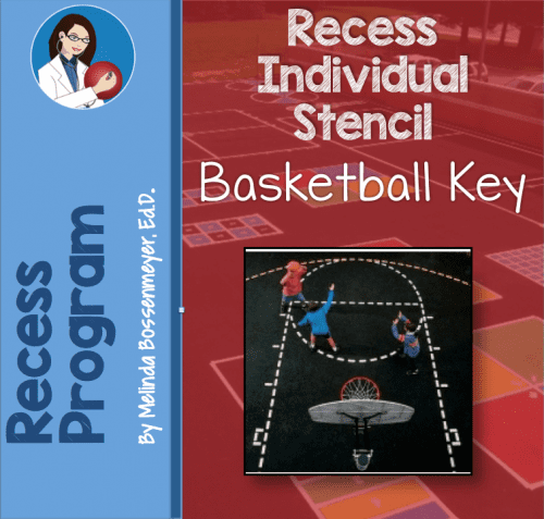Basketball Key Stencil