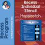 hopscotch stencil