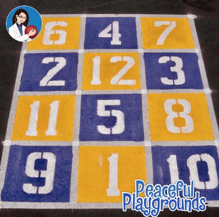 Number grid stencil