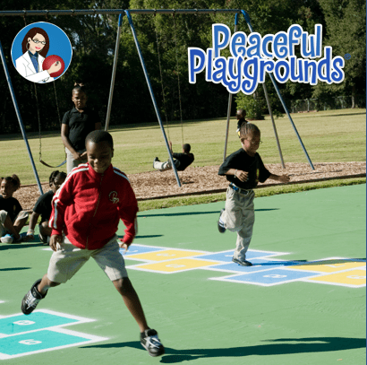 Peaceful Playground hopscotch game