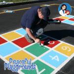 playground alphabet stencil