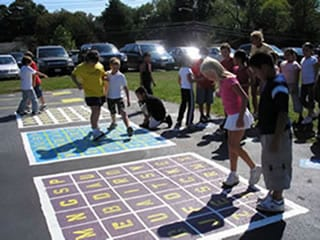 Low cost playgrounds markings