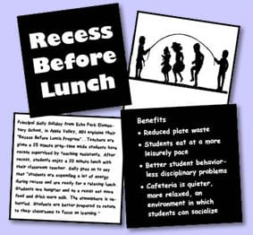 recess before lunch picture