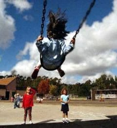 school recess swinging