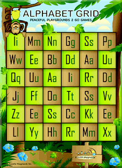 2 Go Games alphabet grid game
