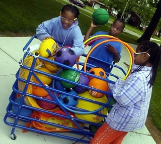 Ball cart of Peaceful Playgrounds Equipment