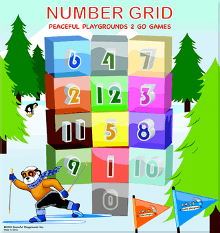 2 Go Indoor Games Program Rug- Number Grid