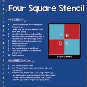 Four Square Stencil