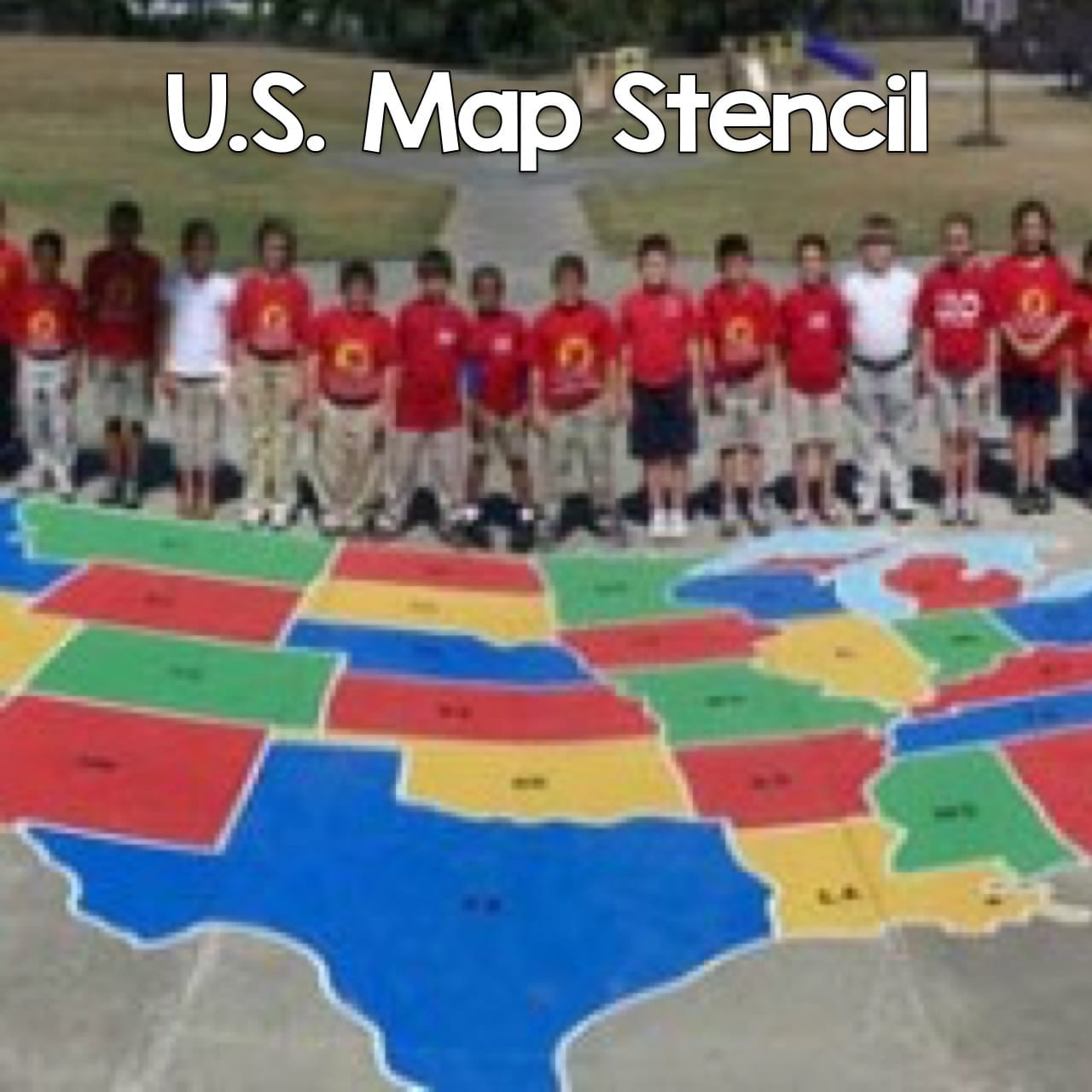 US Map Stencil Peaceful Playgrounds - Us map stencil