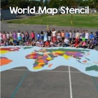 World Map Stencil