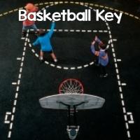 Basketball Key Stencil