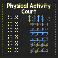 Physical Activity Court Stencils