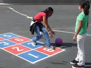 hopscotch on playground