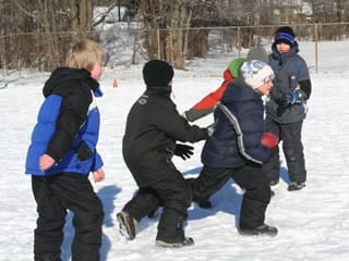 recess program at school kids playing