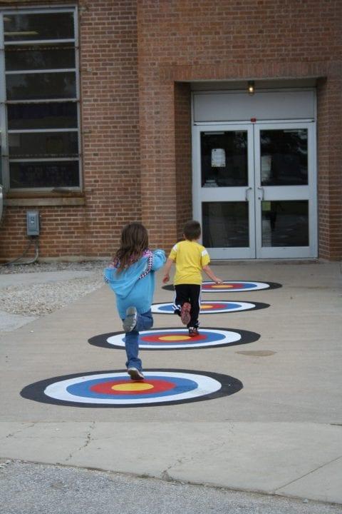 school playground target games