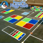 Peaceful playgrounds markings