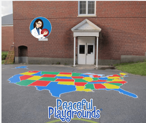 U S Playground Map Stencil Giveaway Peaceful Playgrounds