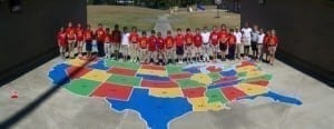 school playground stencils- US Map Stencil