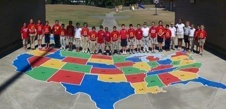 Most popular stencil U.S. Map.