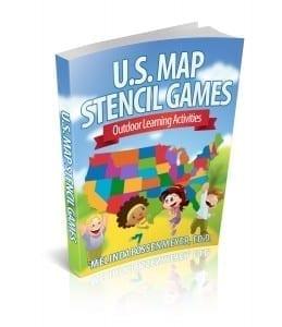 U.S. Map Games Book 3d