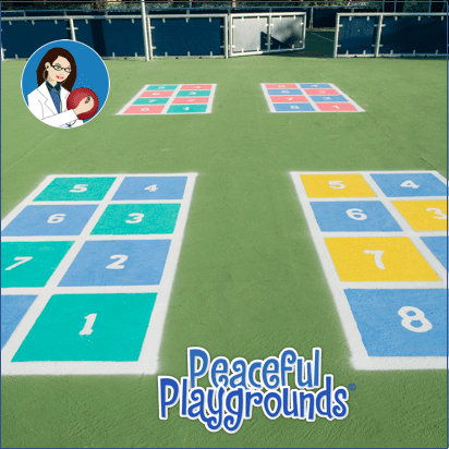 Ball Hopscotch