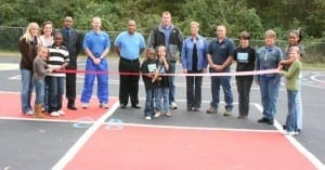 Ribbon cutting on new Peaceful Playground