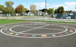 Students at Lemmer Elementary have new playground markings