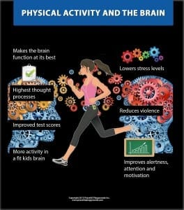 Physical activity and the brain infograhic