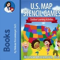 U S Playground Map Stencil - Large us map stencil