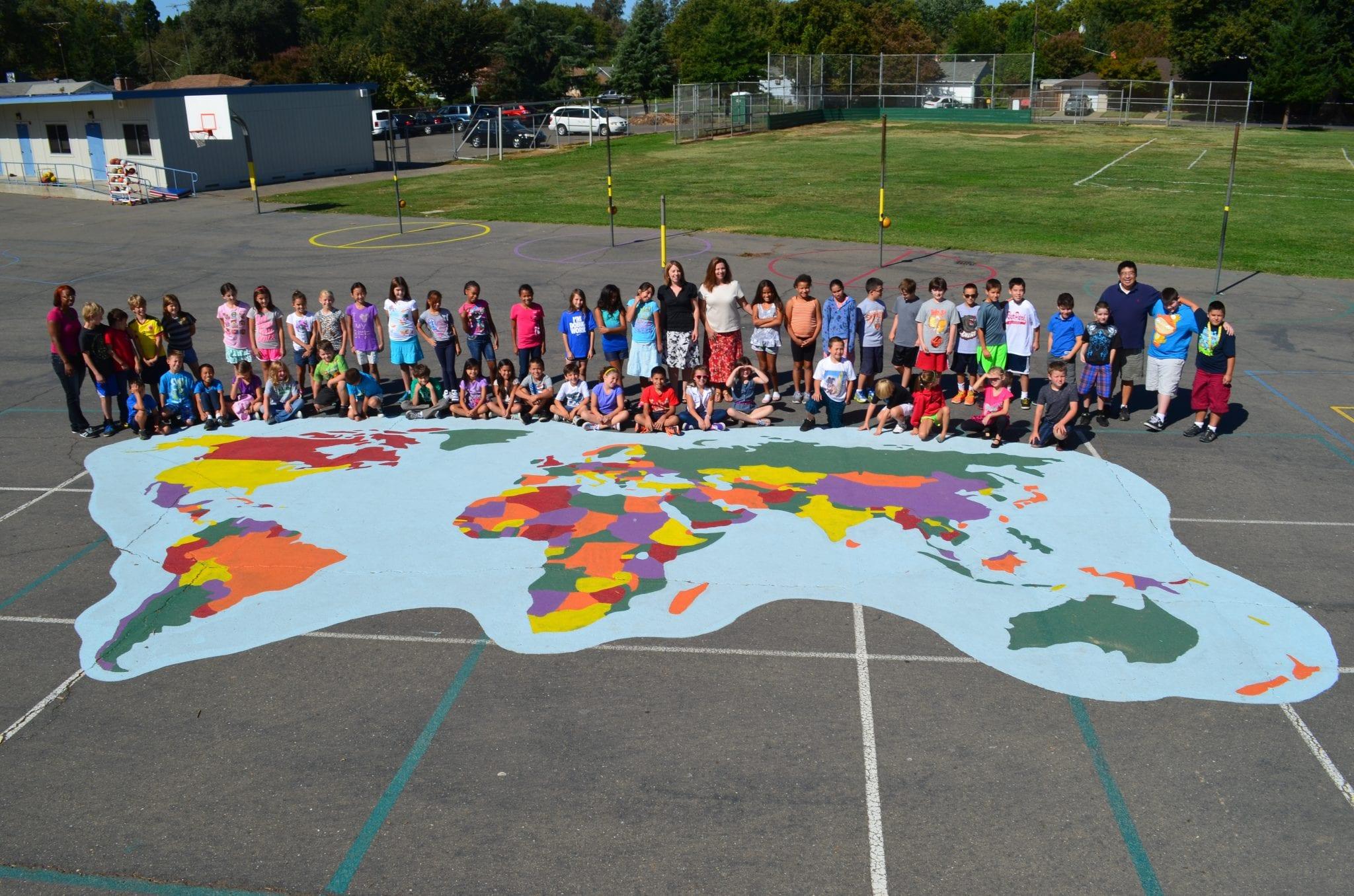 World Playground Stencil Set