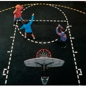 School Playground Stencils - Basketball Court