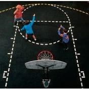 Basketball Court Stencil