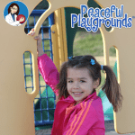 child on play structure