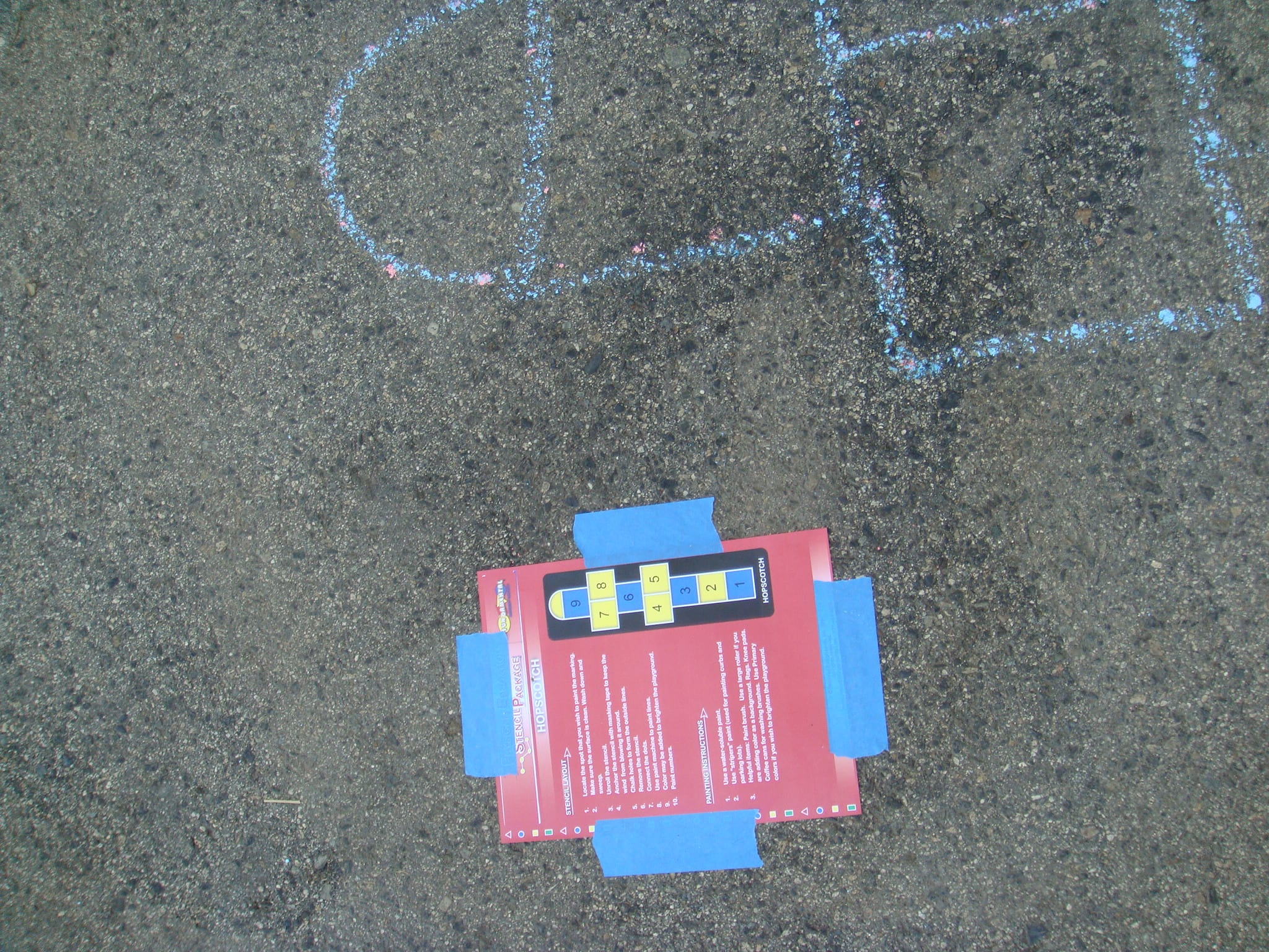 hopscotch stencil picture