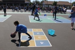Ball Hopscotch Court Peaceful Playgrounds