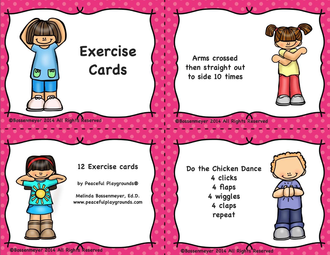 4 Exercise Cards