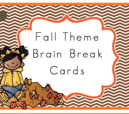 Fall Theme Brain Break Cards
