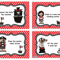 Pirate Brain Break Cards