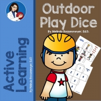 Outdoor game dice