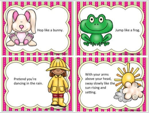 spring brain break cards