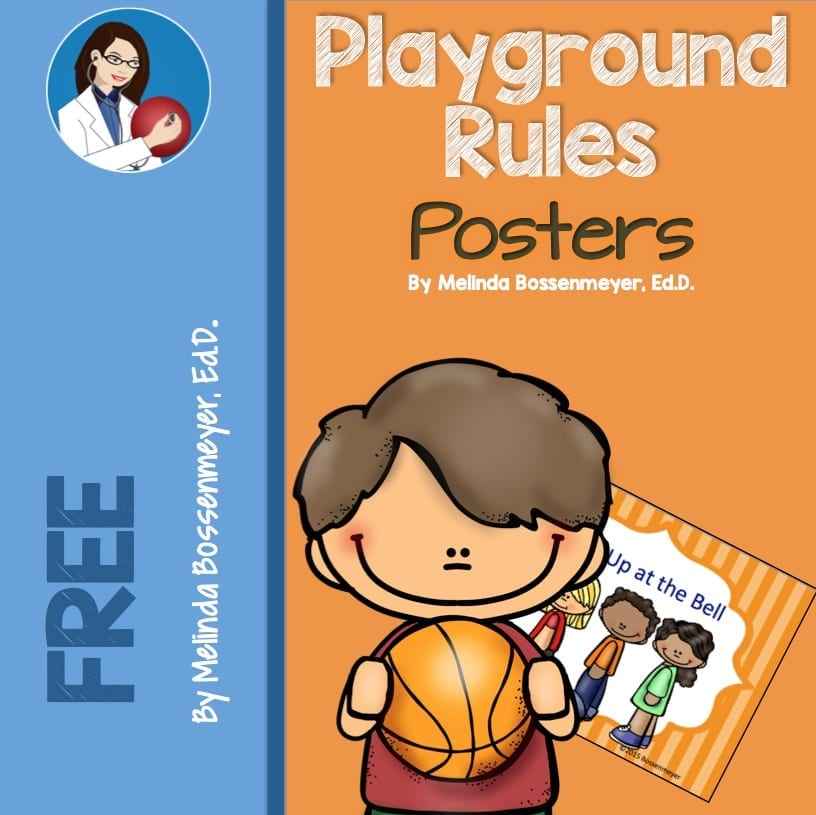 playground rules poster set