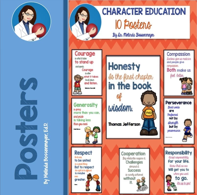 Character Education Posters - Peaceful Playgrounds