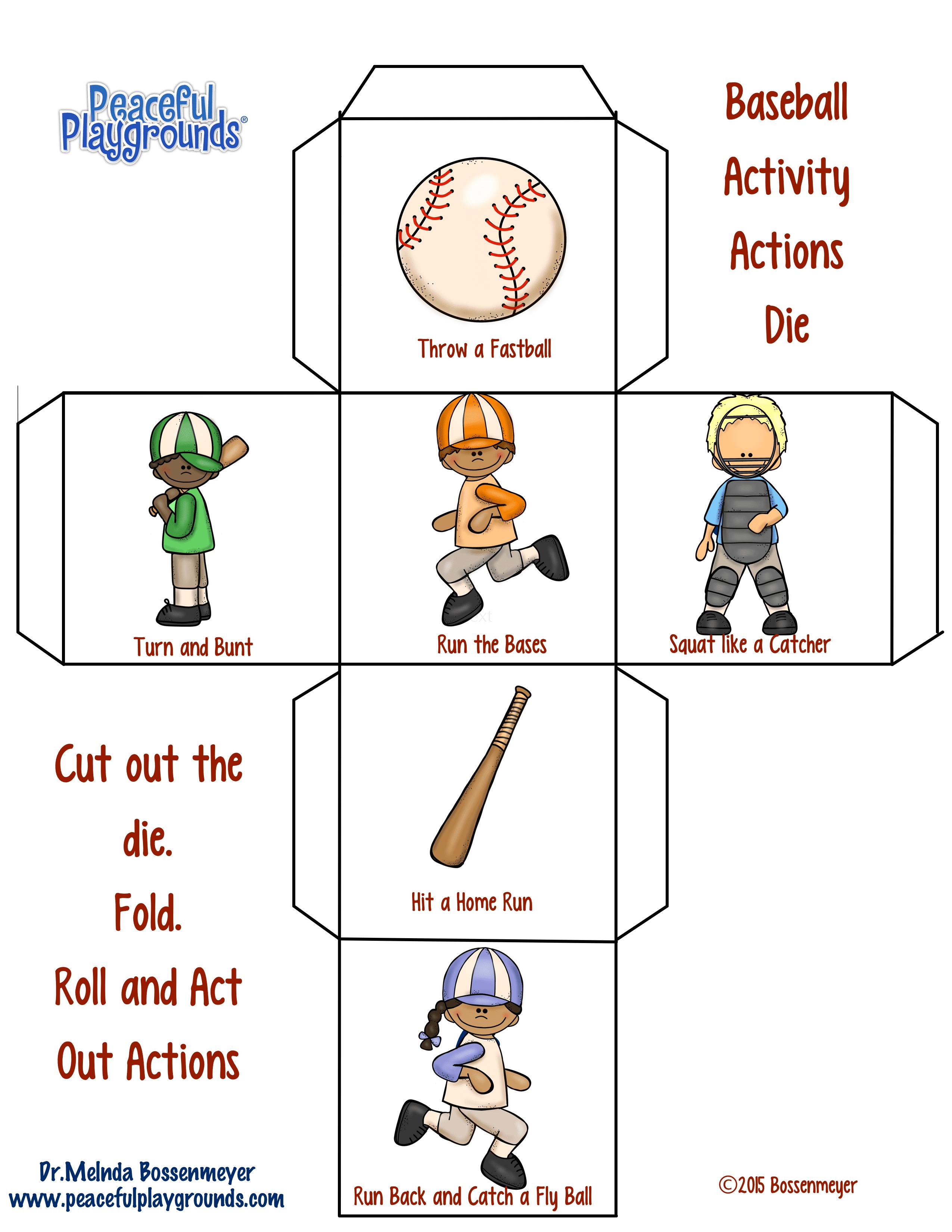 Baseball activity dice
