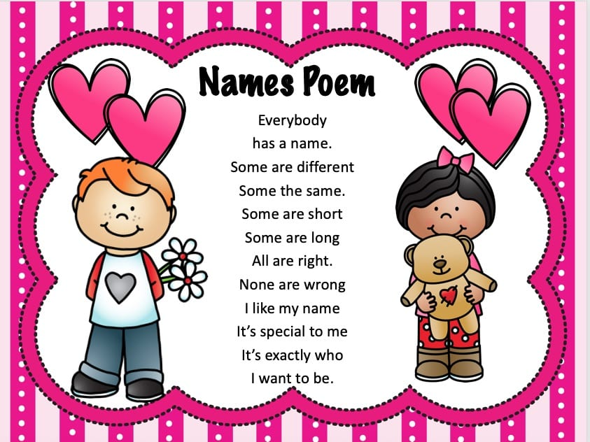 Valentines Day Names Poem