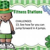 St Patricks Fitness Station Cards