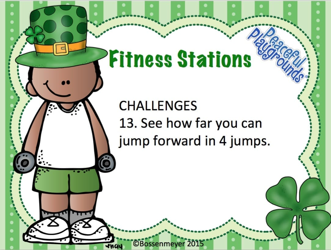 St Patricks Fitness Station Cards