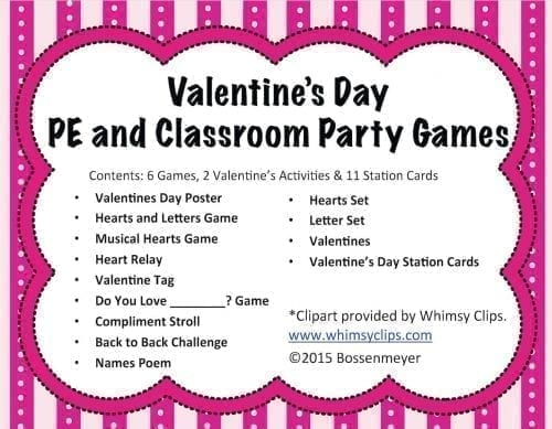 Valentines PE And Party Games