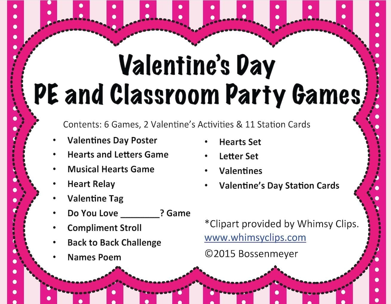 valentines pe and party games - Valentines Day Game
