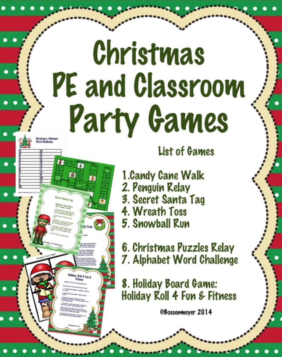 Classroom Birthday Party Games ~ Christmas pe and classroom party games peaceful playgrounds